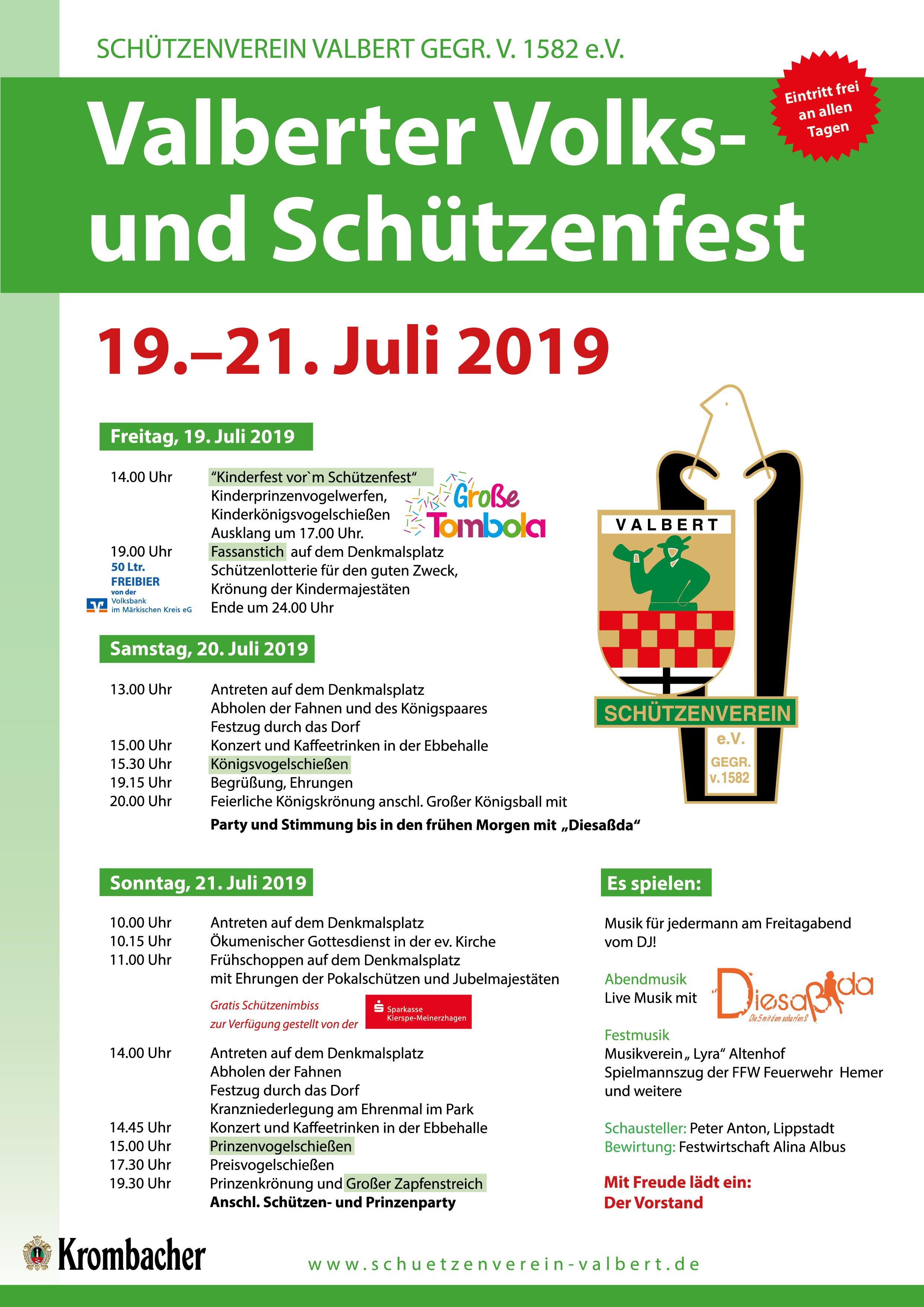 2019-Schützenfest-Plakat